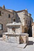 исторический фонтан. гвардии perticara. базиликата. италия. — Стоковое фото