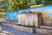 Monumental fountain. Satriano di Lucania. Italy. — Stock Photo