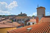 Panoramic view of Satriano di Lucania. Italy. — Stock Photo