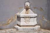 Monumental fountain. Brienza. Basilicata. Italy. — Stock Photo