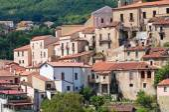 Panoramic view of Brienza. Basilicata. Italy. — Stock Photo