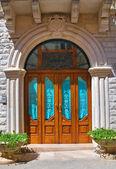 Wooden door. Minervino Murge. Puglia. Italy. — Zdjęcie stockowe