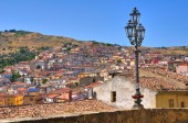 Panoramic view of Oriolo. Calabria. Italy. — Stock Photo