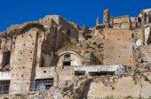 Panoramic view of Craco. Basilicata. Italy. — Stock Photo