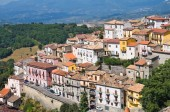 Panoramic view of Viggianello. Basilicata. Southern Italy. — Foto de Stock