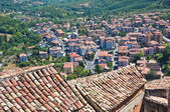 Vista panorámica de morano calabro. Calabria. Italia. — Foto de Stock