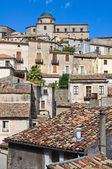 Morano calabro panoramisch uitzicht. calabria. italië. — Stockfoto