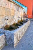 Monumental fountain. Satriano di Lucania. Italy. — Stok fotoğraf