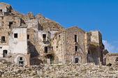 Panoramic view of Craco. Basilicata. Southern Italy. — Stock Photo