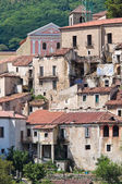 Panoramic view of Brienza. Basilicata. Southern Italy. — Stock Photo