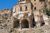 Panoramic view of Craco. Basilicata. Southern Italy. — Stock Photo