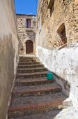Alleyway. Rocca Imperiale. Calabria. Italy. — ストック写真
