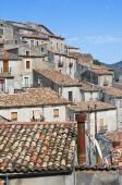 Panoramic view of Morano Calabro. Calabria. Italy. — Foto Stock