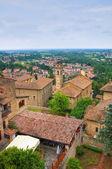 Panoramic view of Castellarquato. Emilia-Romagna. Italy. — Stock Photo