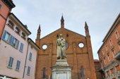 圣弗朗切斯科教堂。皮亚琴察。艾米利亚-罗马涅。意大利. — 图库照片