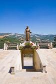 Posąg z brązu. guardia perticara. basilicata. włochy. — Zdjęcie stockowe