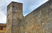 Fortified Wall. Montefalco. Umbria. Italy. — Stock Photo
