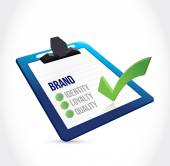 Brand selection on a clipboard illustration design — Stock Photo