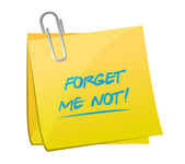 Forget me not memo message illustration — Stock Photo