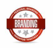 Personal brand seal illustration design — Stock Photo