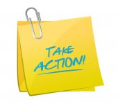 Take action post illustration design — Stock Photo