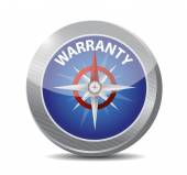 Warranty compass guide illustration design — Stock Photo