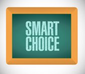 Smart choice message bubble on board — Stock Photo