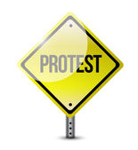 Protest yellow sign illustration design — Stock Photo