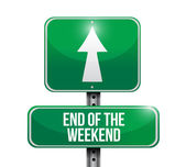 End of the weekend sign illustration design — Stock Photo