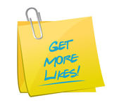 Get more likes post memo illustration — Foto de Stock