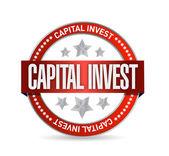 Capital investment seal illustration design — Stock Photo