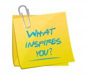 What inspires you question illustration — Stock Photo