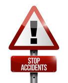 Stop accidents warning illustration design — Stockfoto