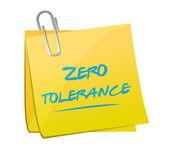 Zero tolerance memo illustration design — Stock Photo