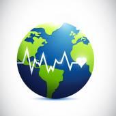Globe lifeline illustration design — Stock Photo