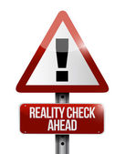 Reality check ahead sign illustration — Stock Photo