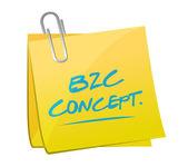 B2c concept post illustration design — Stock Photo