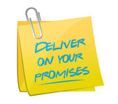 Deliver on your promises illustration design — Stock Photo