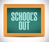 Schools our message illustration design — Stock Photo