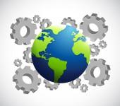 Industrial globe illustration design — Stock Photo