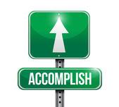 Accomplish sign illustration design — Stock Photo