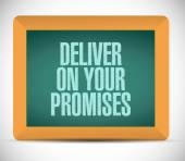 Deliver on your promises message on board. — Stock Photo