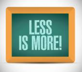 Less is more message illustration design — Foto Stock