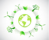 Globe and eco illustration illustration design — Photo