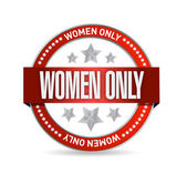 Women only seal illustration design — Stock Photo