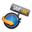 Save time watch concept illustration design — Stock Photo #53537431