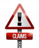 Claims warning sign illustration design — Stock Photo