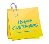 Happy customers memo illustration design — Stock Photo