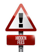Hidden fees warning sign illustration design — Stock Photo