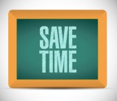 Save time message on a board. illustration — Stock Photo
